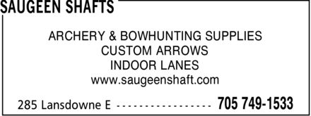 Ads Saugeen Shafts