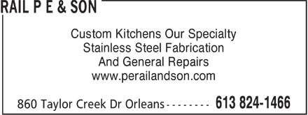 Rail P E & Son (613-824-1466) - Annonce illustrée======= - Custom Kitchens Our Specialty Stainless Steel Fabrication And General Repairs www.perailandson.com  Custom Kitchens Our Specialty Stainless Steel Fabrication And General Repairs www.perailandson.com  Custom Kitchens Our Specialty Stainless Steel Fabrication And General Repairs www.perailandson.com  Custom Kitchens Our Specialty Stainless Steel Fabrication And General Repairs www.perailandson.com  Custom Kitchens Our Specialty Stainless Steel Fabrication And General Repairs www.perailandson.com  Custom Kitchens Our Specialty Stainless Steel Fabrication And General Repairs www.perailandson.com  Custom Kitchens Our Specialty Stainless Steel Fabrication And General Repairs www.perailandson.com  Custom Kitchens Our Specialty Stainless Steel Fabrication And General Repairs www.perailandson.com  Custom Kitchens Our Specialty Stainless Steel Fabrication And General Repairs www.perailandson.com  Custom Kitchens Our Specialty Stainless Steel Fabrication And General Repairs www.perailandson.com  Custom Kitchens Our Specialty Stainless Steel Fabrication And General Repairs www.perailandson.com  Custom Kitchens Our Specialty Stainless Steel Fabrication And General Repairs www.perailandson.com  Custom Kitchens Our Specialty Stainless Steel Fabrication And General Repairs www.perailandson.com  Custom Kitchens Our Specialty Stainless Steel Fabrication And General Repairs www.perailandson.com  Custom Kitchens Our Specialty Stainless Steel Fabrication And General Repairs www.perailandson.com  Custom Kitchens Our Specialty Stainless Steel Fabrication And General Repairs www.perailandson.com  Custom Kitchens Our Specialty Stainless Steel Fabrication And General Repairs www.perailandson.com  Custom Kitchens Our Specialty Stainless Steel Fabrication And General Repairs www.perailandson.com  Custom Kitchens Our Specialty Stainless Steel Fabrication And General Repairs www.perailandson.com  Custom Kitchens Our Specialty Stainless S