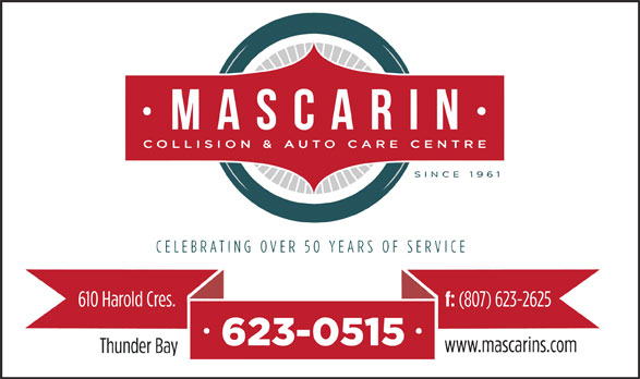 Mascarin Collision Centre (807-623-0515) - Annonce illustrée======= -