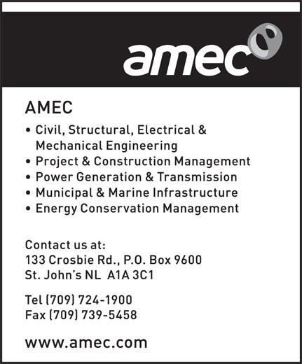 Amec Foster Wheeler (709-724-1900) - Display Ad -