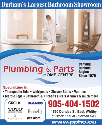 Plumbing And Parts Home Centre 1650 Dundas St E Whitby On