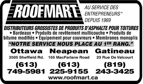Roofmart (613-749-5981) - Display Ad -
