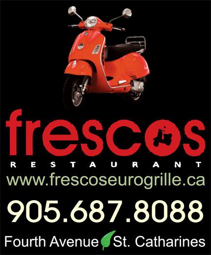 Fresco's Restaurant & Bar (905-687-8088) - Annonce illustrée======= - 905.687.8088