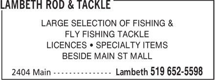 Ads Lambeth Rod & Tackle