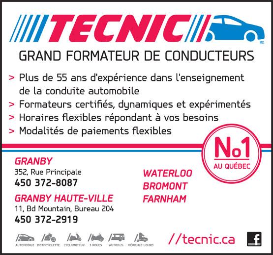 Ads Ecole de conduite Tecnic