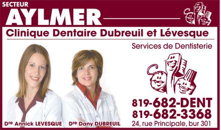 Dre Dany Dubreuil - Dre Annick Levesque (819-682-3368) - Annonce illustrée======= -