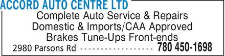Ads Accord Auto Centre Ltd