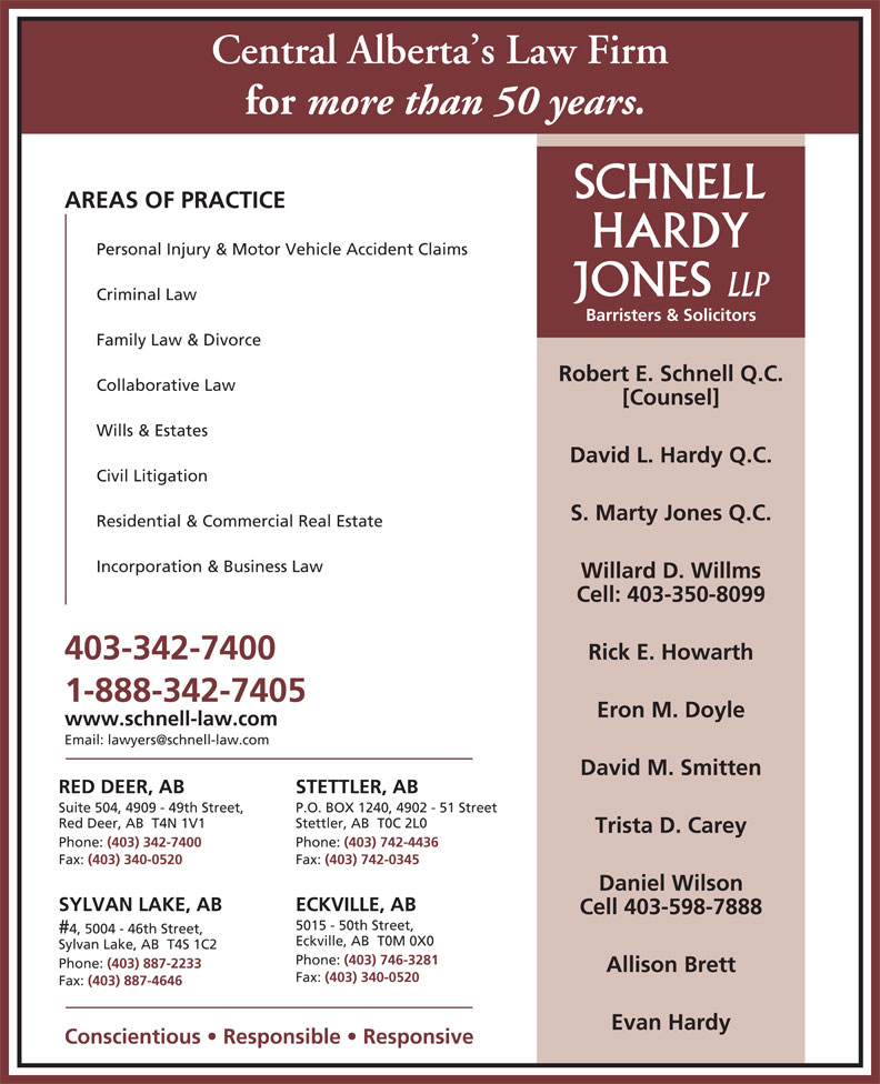 Ads Schnell Hardy Jones LLP