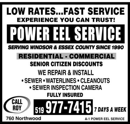 Power Eel Service (519-977-7415) - Display Ad -