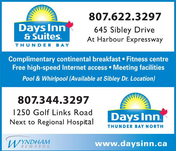 Days Inn (807-622-3297) - Annonce illustrée======= -