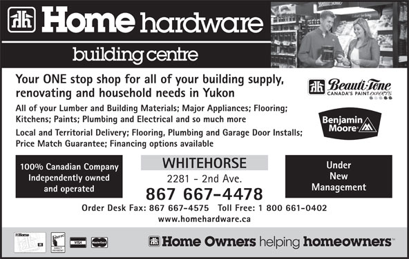 Home Hardware Building Centre (867-667-4478) - Display Ad -