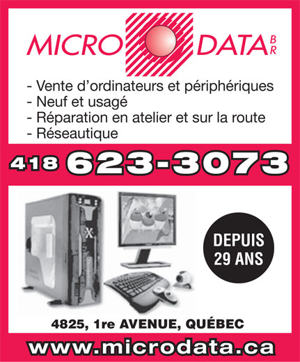 Micro Data Br (418-623-3073) - Display Ad -