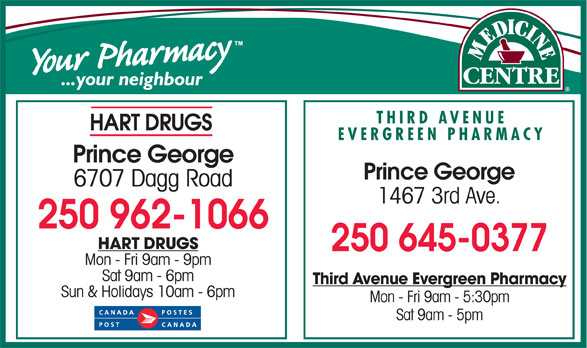 Ads Third Ave Evergreen Pharmacy