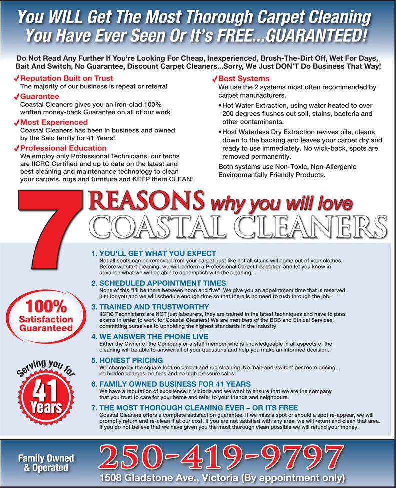 Coastal Carpet Amp Upholstery Cleaners 133 Joseph St