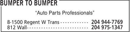 "Auto Parts Central (204-975-1347) - Display Ad - ""Auto Parts Professionals"""