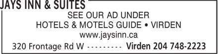 Jays Inn & Suites (204-748-2223) - Annonce illustrée======= -
