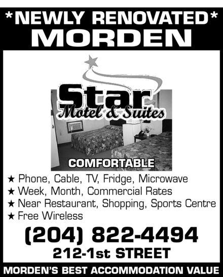 Star Motel (204-822-4494) - Annonce illustrée======= -