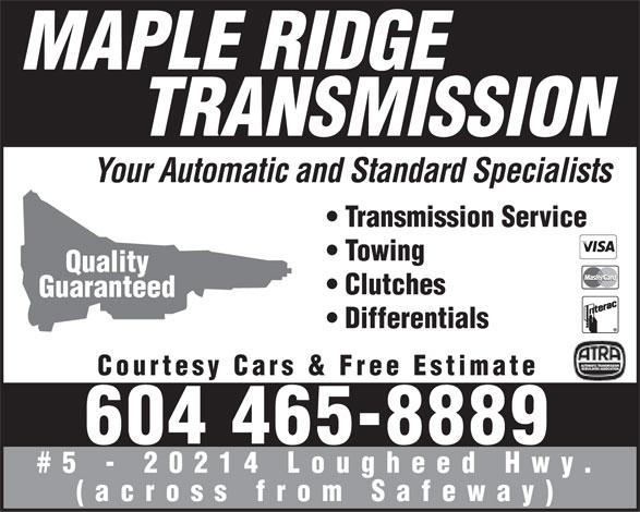 Ads Maple Ridge Transmission