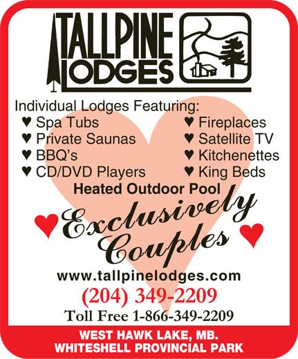 Tallpine Lodges (204-349-2209) - Annonce illustrée======= -