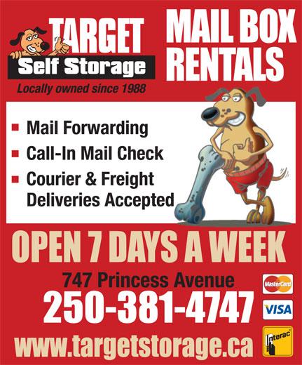 Target Storage Ltd (250-381-4747) - Annonce illustrée======= -
