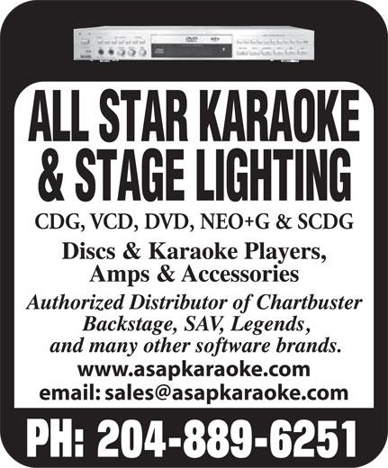 All Star Karaoke (204-889-6251) - Display Ad -