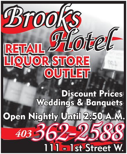 Brooks Hotel (403-362-2588) - Annonce illustrée======= -