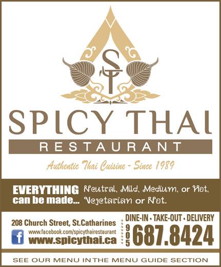 Spicy Thai Restaurant (905-687-8424) - Annonce illustrée======= - 687.8424