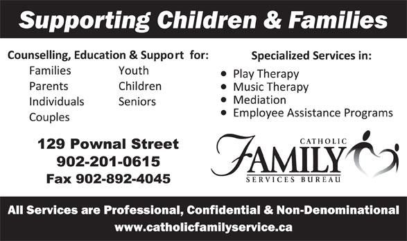 Catholic Family Services Bureau (902-894-3515) - Annonce illustrée======= -