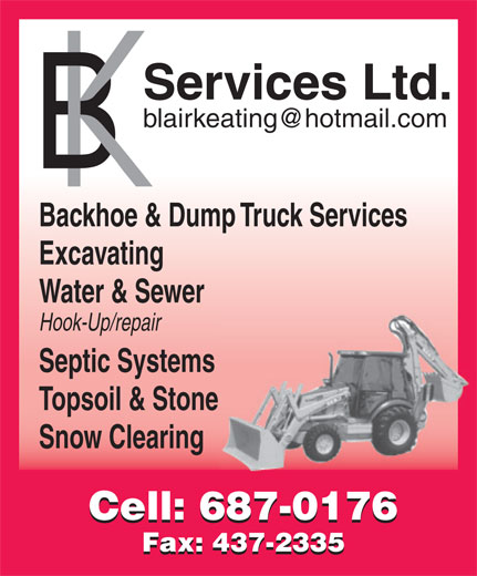 B K Services Limited (709-687-0176) - Display Ad -