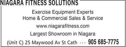 Niagara Fitness Solutions (905-685-7775) - Display Ad -