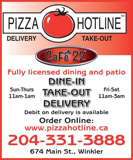 Pizza Hotline (204-331-3888) - Annonce illustrée======= -