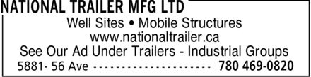 National Trailer Mfg Ltd (780-469-0820) - Annonce illustrée======= -