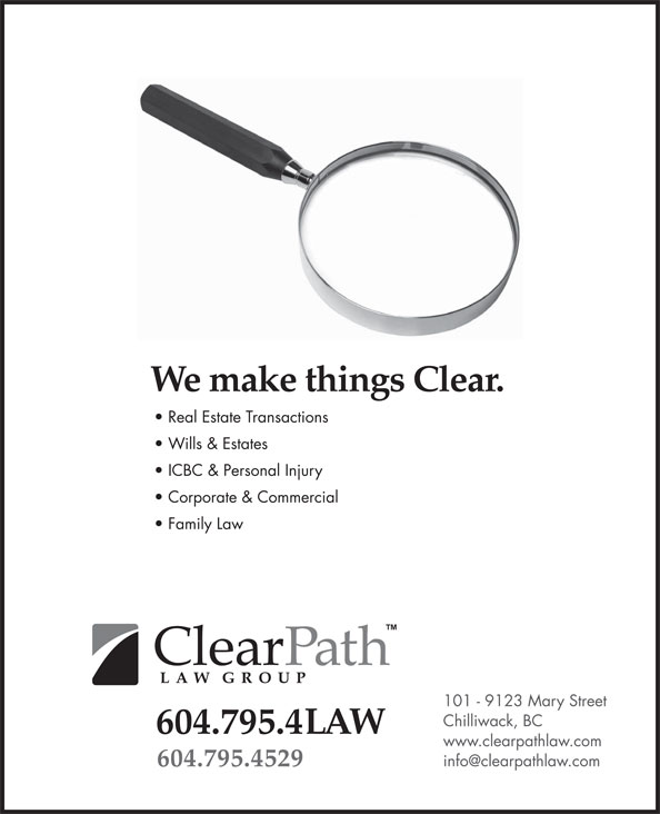 ClearPath Law Group (604-795-4529) - Display Ad -