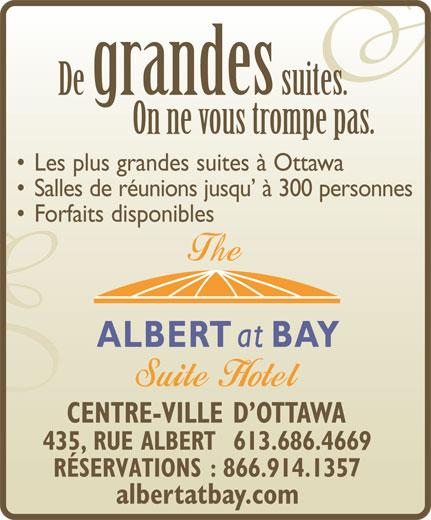 Albert At Bay Suite Hotel (613-238-8858) - Annonce illustrée======= -