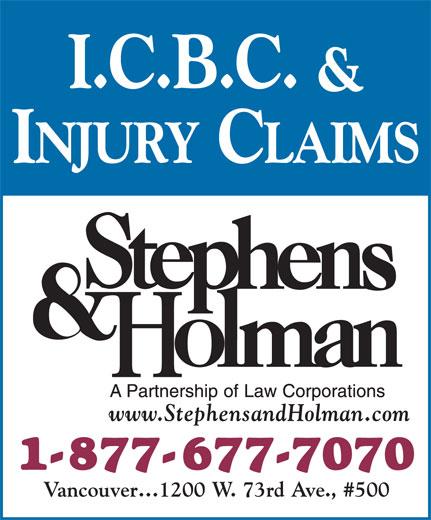 Stephens & Holman (1-877-677-7070) - Display Ad -