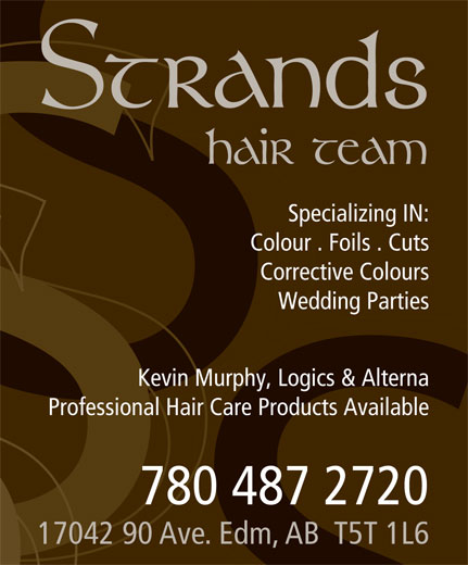 Strands Hair Team (780-487-2720) - Display Ad -