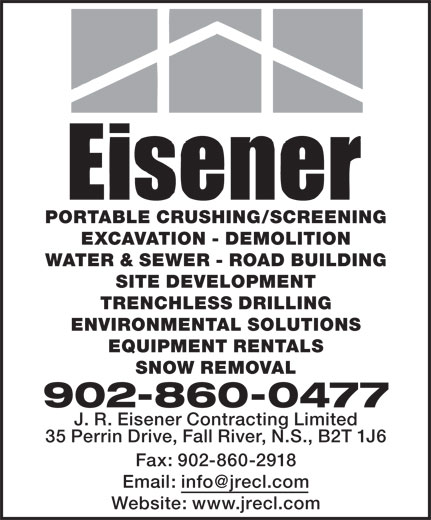 Eisener Contracting Ltd (902-860-0477) - Annonce illustrée======= -