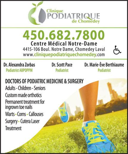 Clinique Podiatrique Chomedey (450-682-7800) - Display Ad -