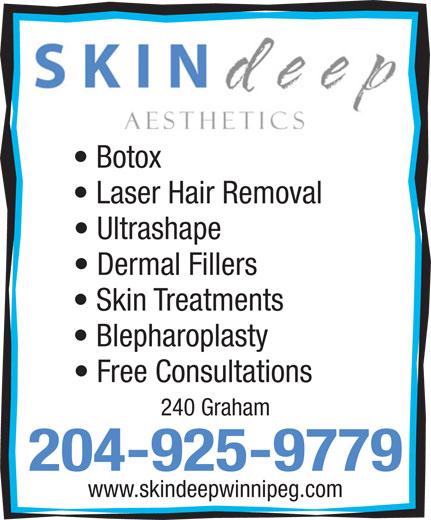 Skin Deep (204-925-9779) - Annonce illustrée======= -