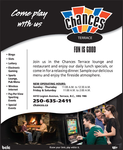 Chances Terrace (250-635-2411) - Display Ad -