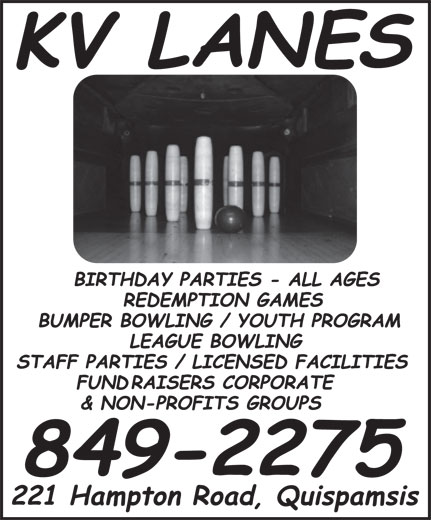 Kennebecasis Valley Bowling Lanes (506-849-2275) - Display Ad -