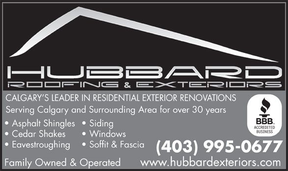 Hubbard Roofing Exteriors Inc Canpages