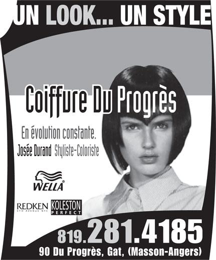 Coiffure du Progrès (819-281-4185) - Annonce illustrée======= -