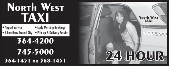 North West Taxi (709-364-1451) - Annonce illustrée======= -