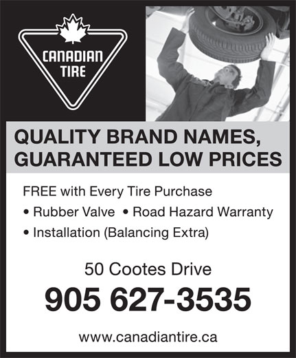 Canadian Tire (905-627-3535) - Annonce illustrée======= -