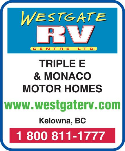 Westgate R V Centre (250-769-4525) - Display Ad -