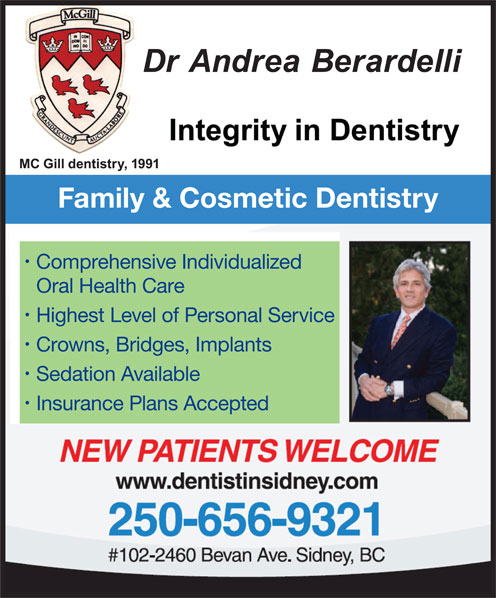Dr Amir Majeet (250-656-9321) - Annonce illustrée======= - Insurance Plans Accepted Highest Level of Personal Service Family & Cosmetic Dentistry Comprehensive Individualized Oral Health Care Sedation Available Crowns, Bridges, Implants