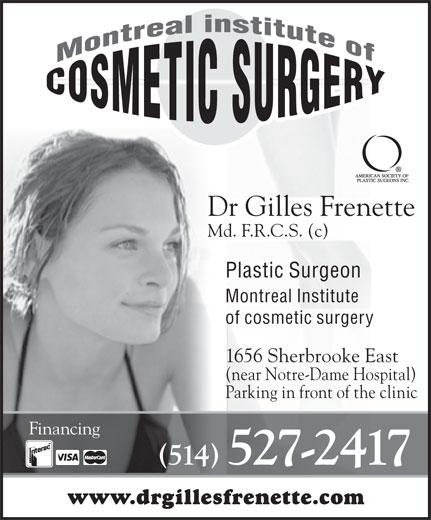 Frenette Gilles Dr (514-527-2417) - Annonce illustrée======= -