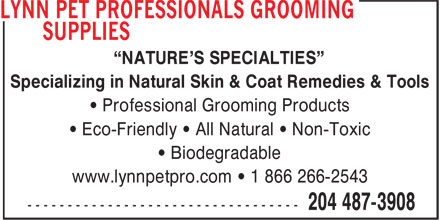 Lynn Pet Professionals Grooming Supplies (204-487-3908) - Annonce illustrée======= -