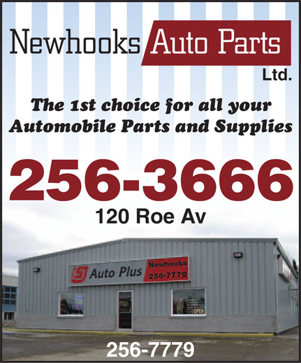 Newhooks Auto Parts (1977) Ltd (709-256-7779) - Annonce illustrée======= - Ltd. 256-3666 120 Roe Av 256-7779